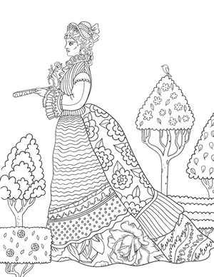 300x388 New Adult Coloring Pages Cathedral, Russian Dolls, Victorian
