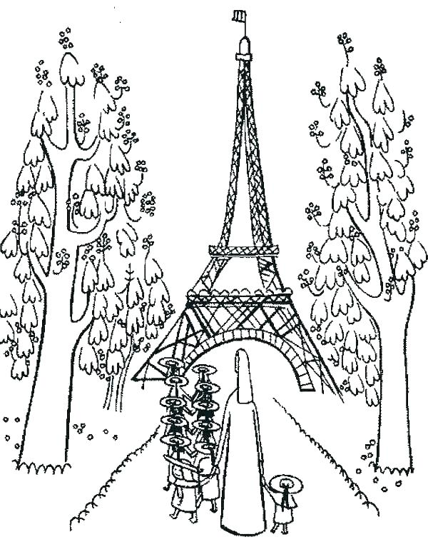 600x780 Tower Coloring Pages Cathedral Dame Coloring Page Eiffel Tower