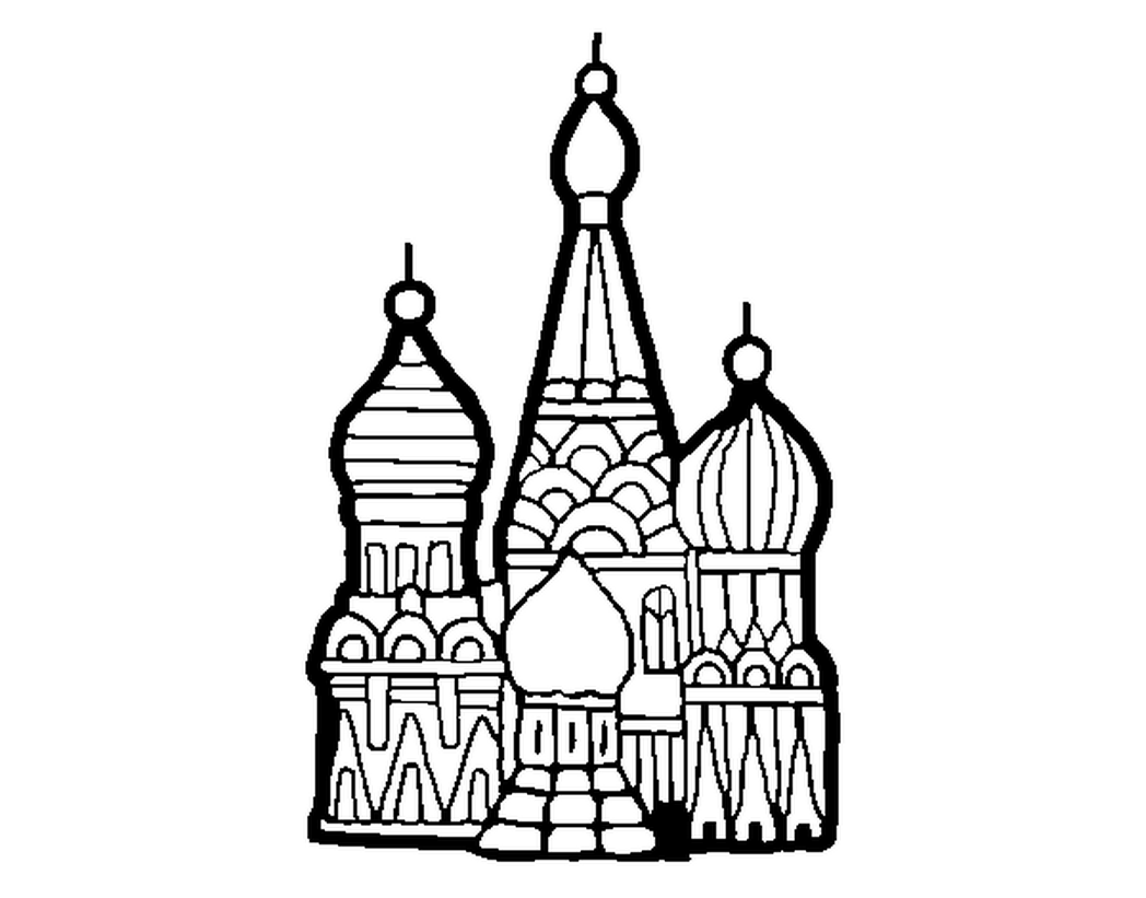 1048x821 Coloring Page Saint Basil Cathedral Color Online Coloringcrew