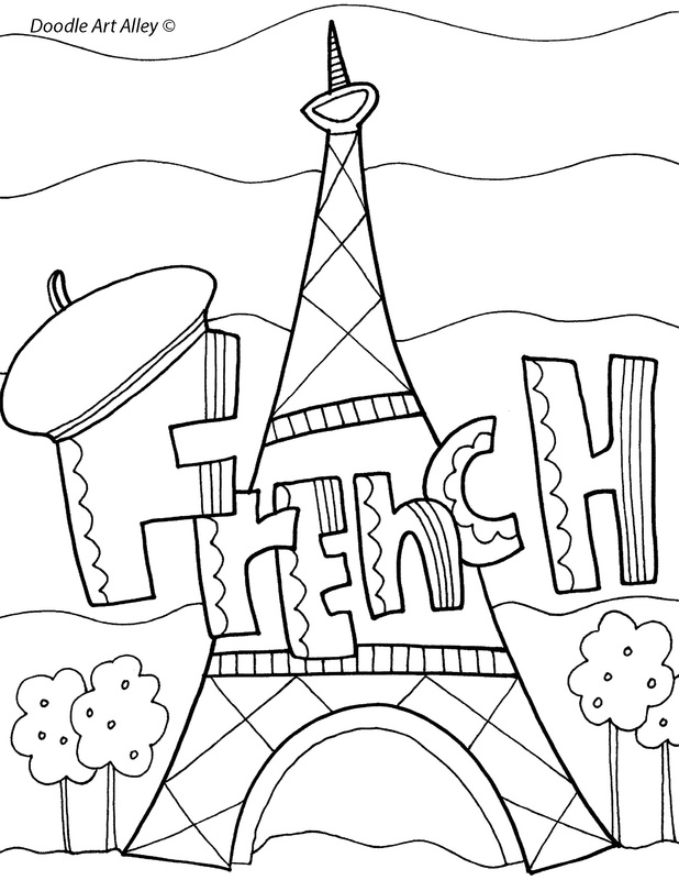 618x800 Agreeable French Coloring Pages Printable For Amusing French