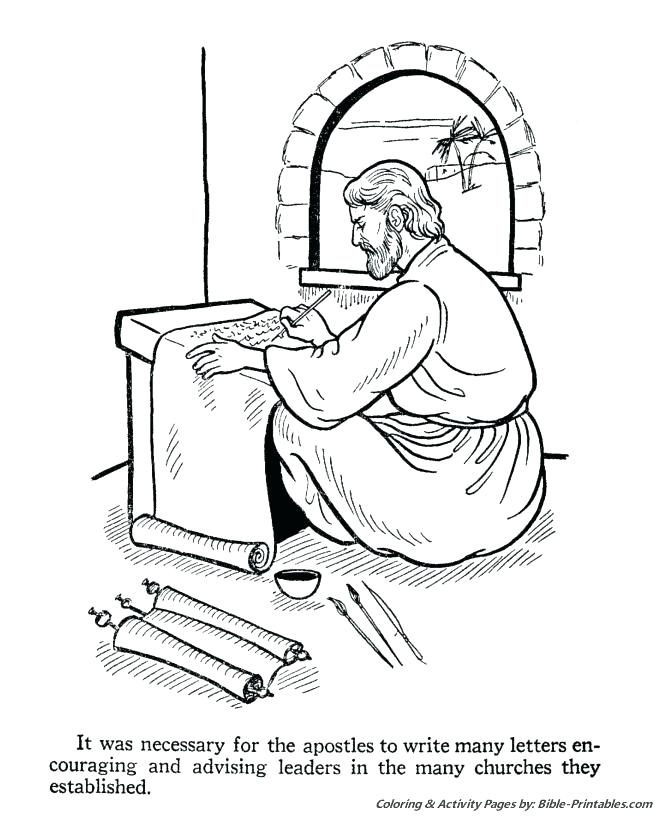670x820 Apostle Paul Coloring Pages Shipwreck The Apostles Letters St