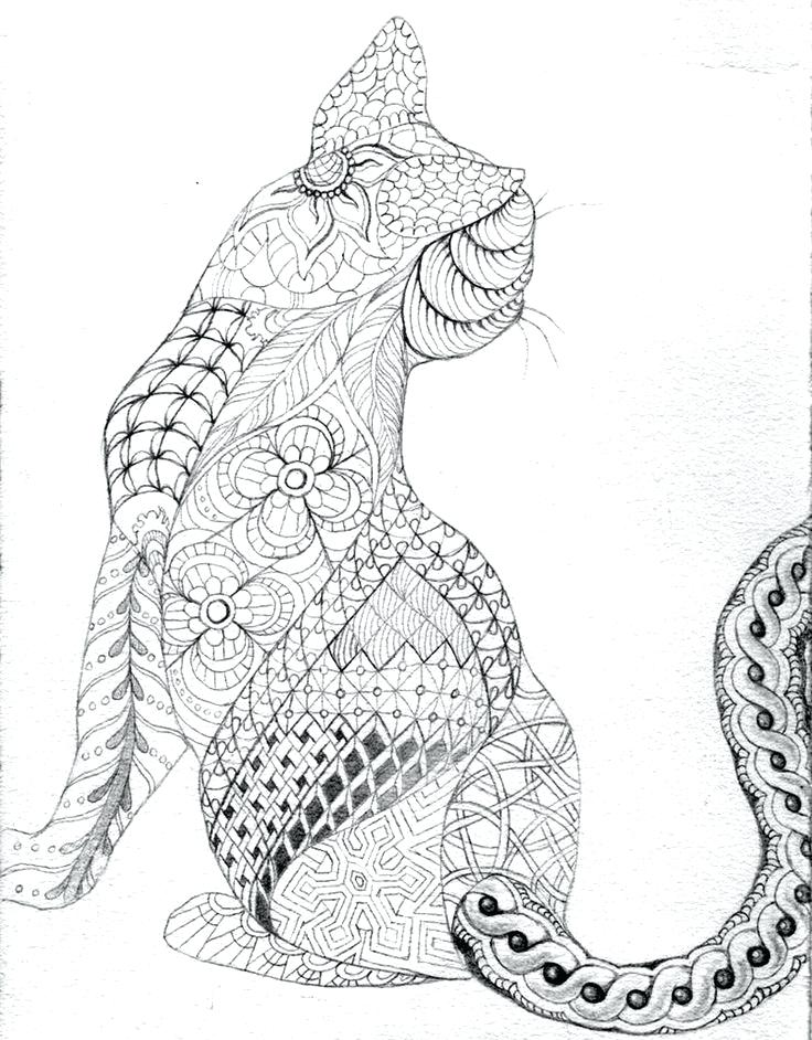 736x942 Cat Mandala Coloring Pages Kids Drawing And Coloring Pages Free