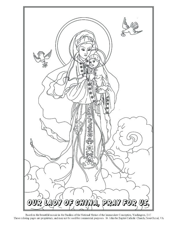 612x792 Catholic Coloring Pages Of Mary Coloring Book Football As Well As