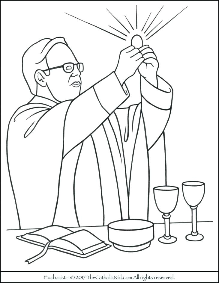 730x945 Catholic Mass Coloring Pages