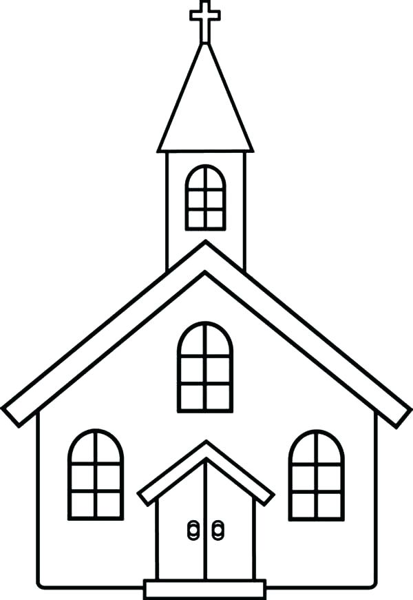 600x871 Church Coloring Pages Catholic Page Religions Catholic Preschool