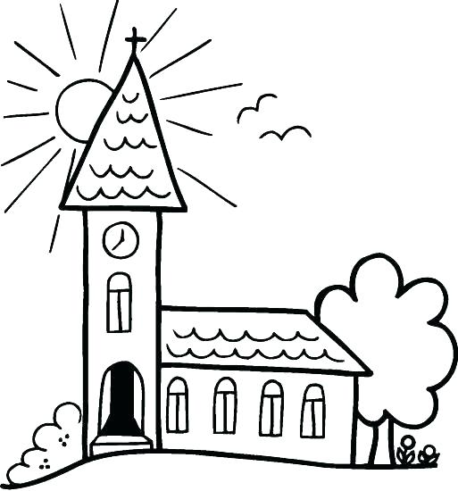 513x550 Church Coloring Pages Church Coloring Page Seven Sacraments