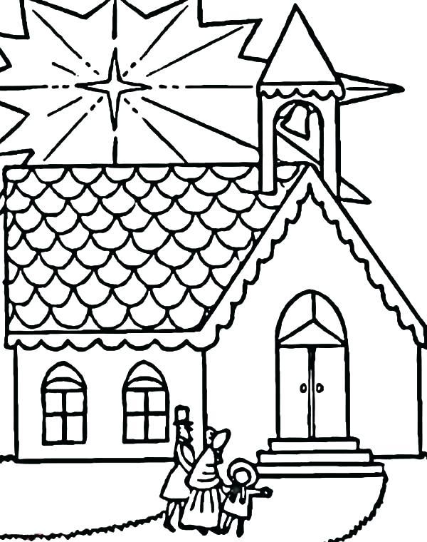 600x760 Church Coloring Pages Church Coloring Pages To Print Church Family