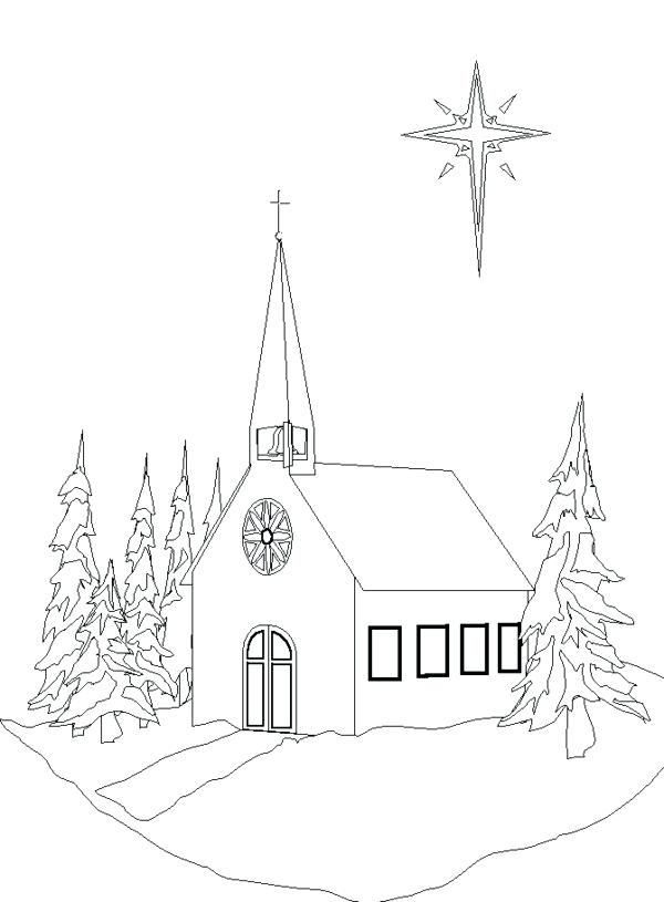 600x815 Ideas Church Coloring Pages For Church Coloring Pages In Winter
