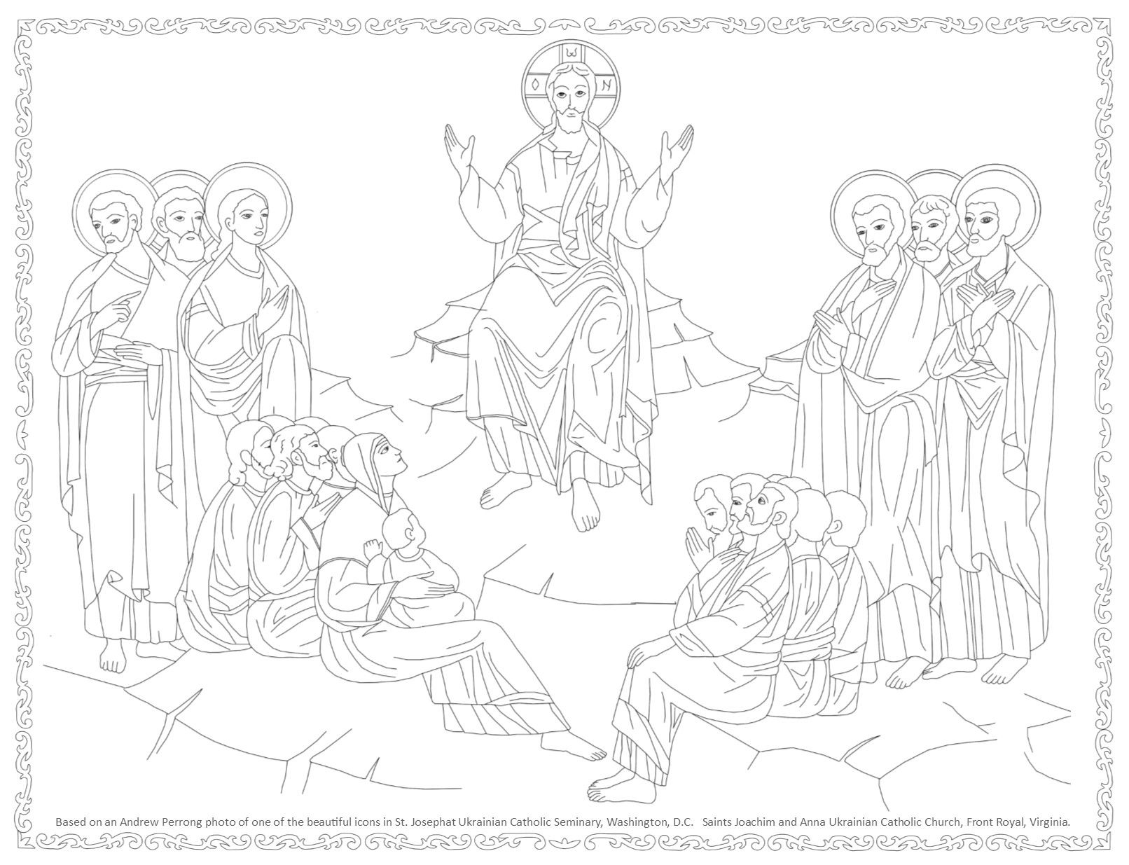 1612x1235 Byzantine Icon Coloring Page, Based On An Icon In The Chaple Of St