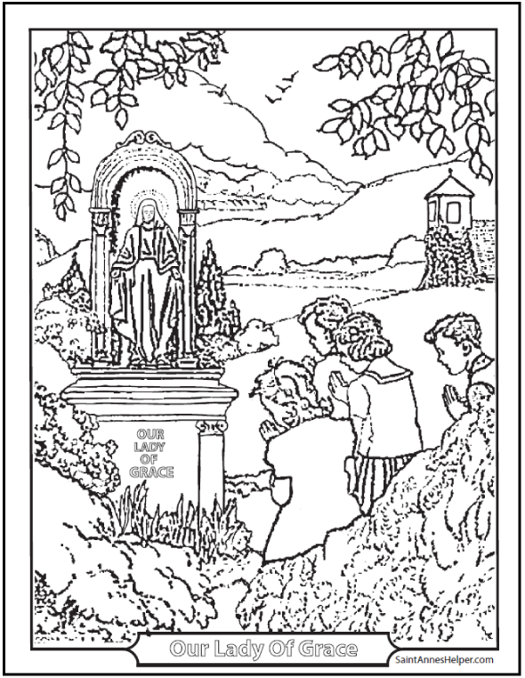 Catholic Coloring Pages For Kindergarten