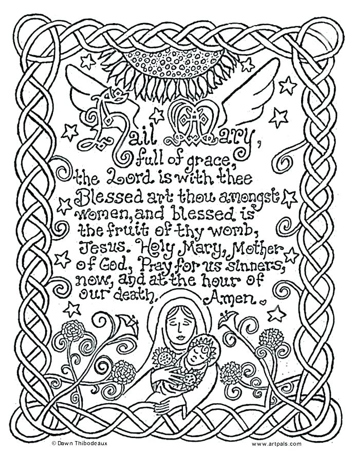 687x891 The Lords Prayer Coloring Pages With Prayer Coloring Pages Prayer