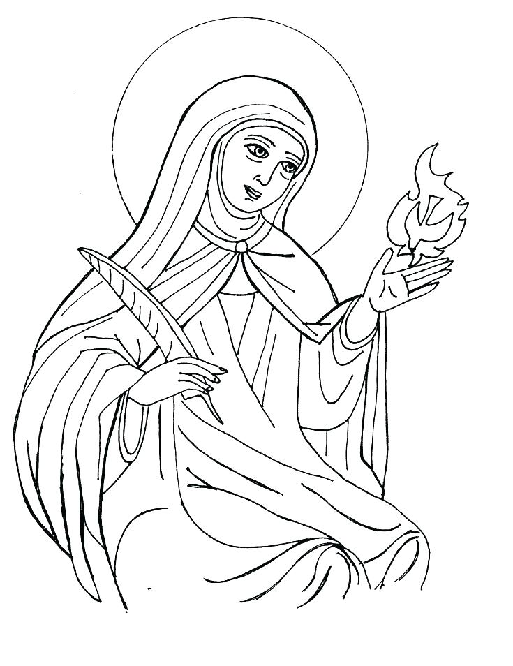 Catholic Saints Coloring Pages At Getdrawings Com Free For