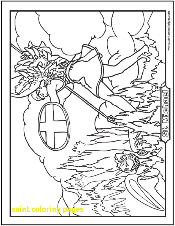 590x762 Saint Coloring Pages With Catholic Saint Coloring Pages