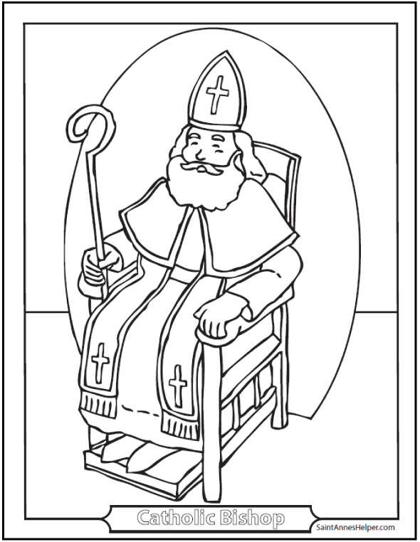 Catholic Saints Coloring Pages at GetDrawings.com | Free for ...