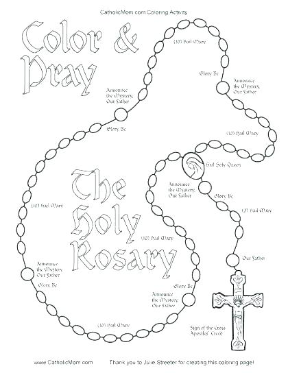 420x544 Free Luminous Mysteries Coloring Pages Rosary Page Catholic