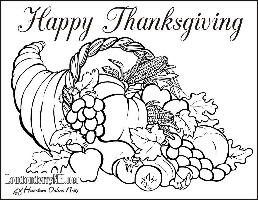 1048x811 Absolutely Smart Thanksgiving Coloring Pages For Adults Happy