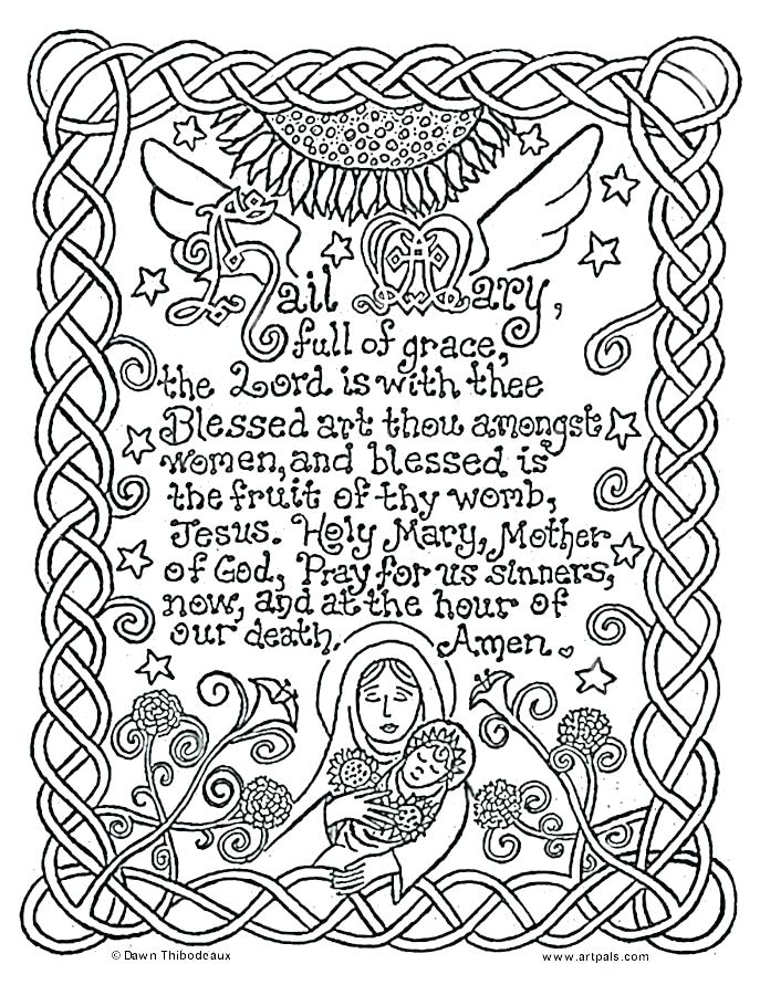 687x891 Free Catholic Coloring Pages