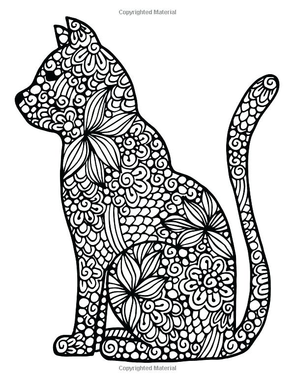 600x776 Cat Coloring Pages For Adults Cat Coloring Pages Coloring Pages