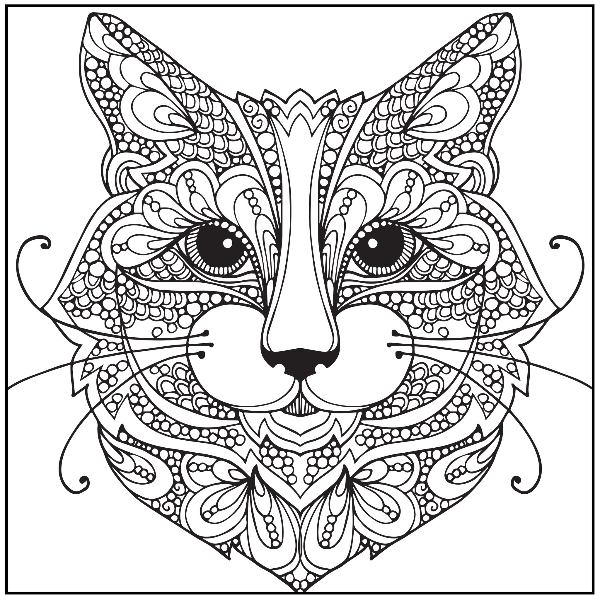 2048x2048 Absolutely Design Cat Coloring Pages For Adults To Print Printable