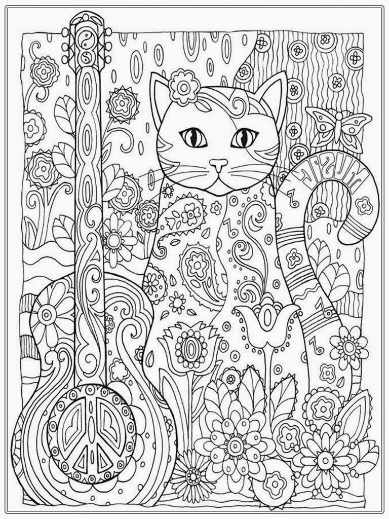 768x1024 Cat Coloring Pages Adults Luxury Pretty Cat Coloring Pages