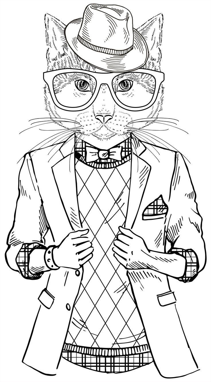 736x1331 Cat Coloring Book For Adults