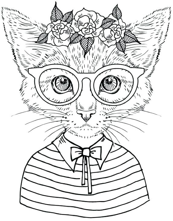 573x731 Cat Coloring Page Kitty Cat Coloring Pages Cute Little Kitten