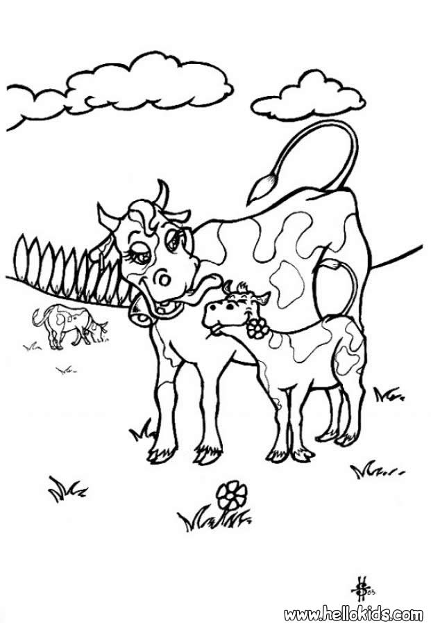621x900 Cow And Calf Coloring Pages