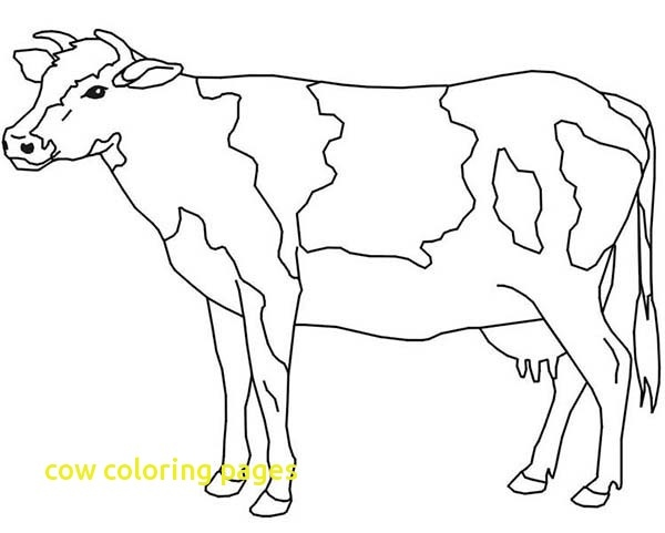 600x481 Cow Coloring Page Best Of Cow Coloring Pages With Farm Animal
