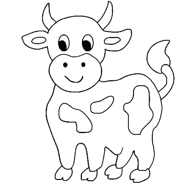 600x600 Cow Coloring Pages Coloring Pages For Kids Cow Coloring Pages Cow