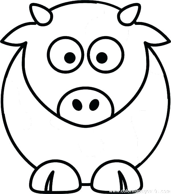 600x679 Coloring Pages Of Cows