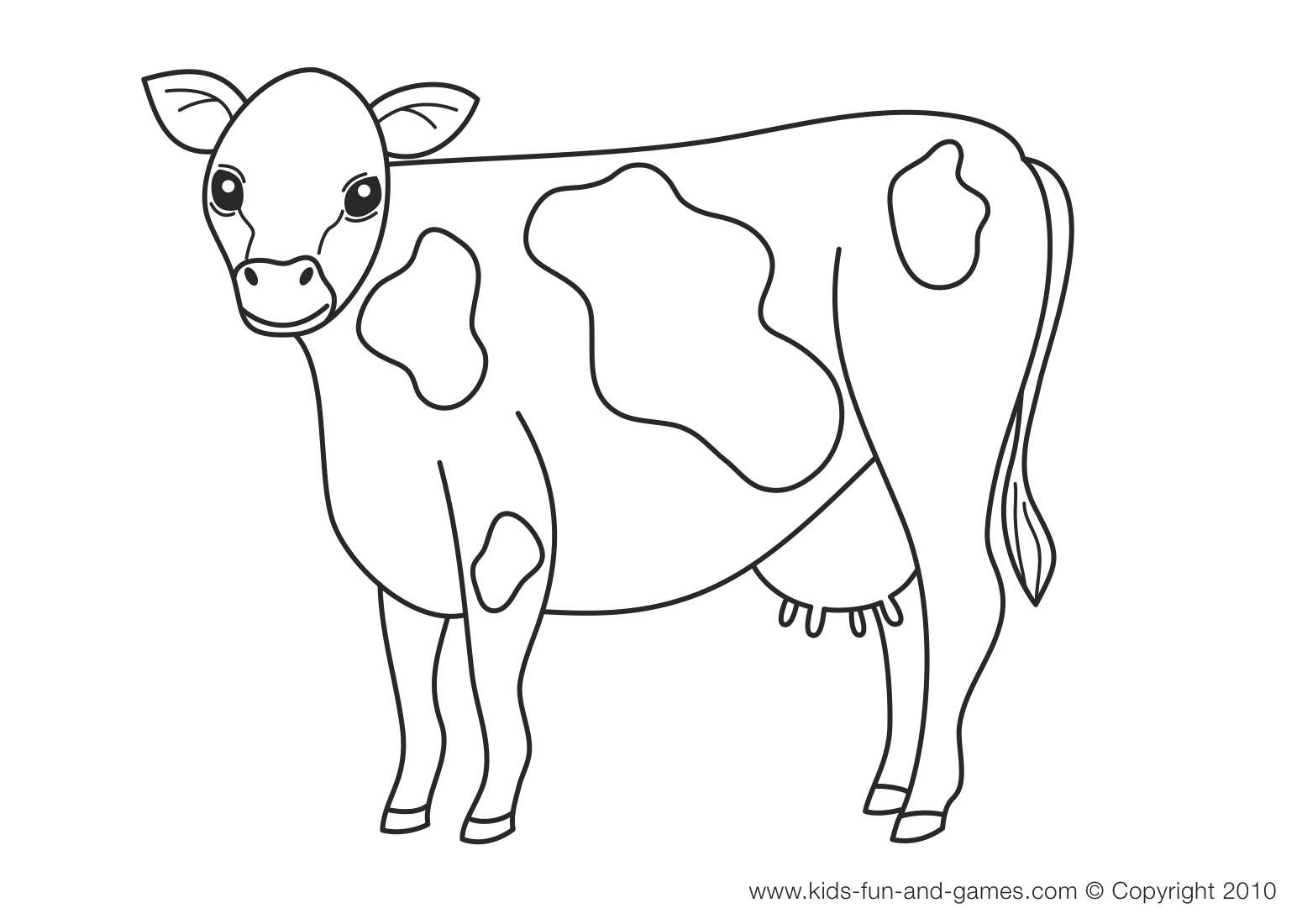 1550x1100 Cow Coloring Pages Page