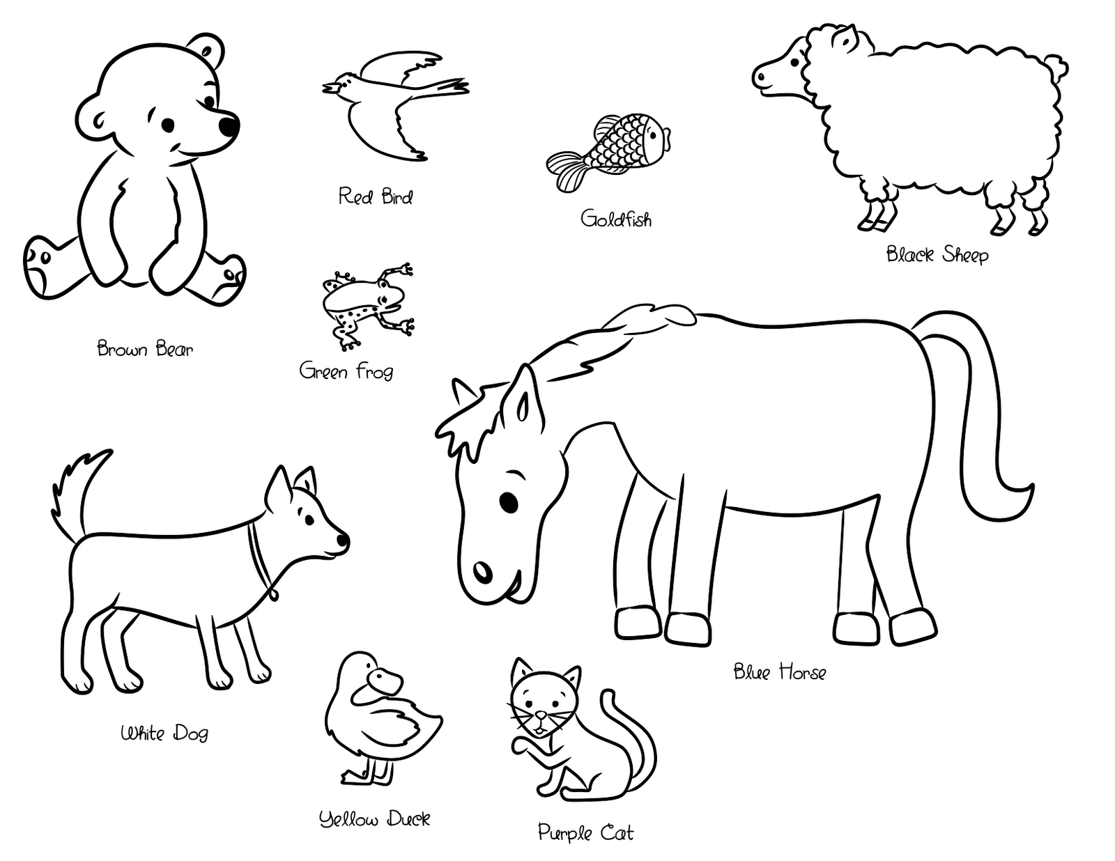 1600x1236 Coloring Pages New Eric Carle Blue Horse Printable