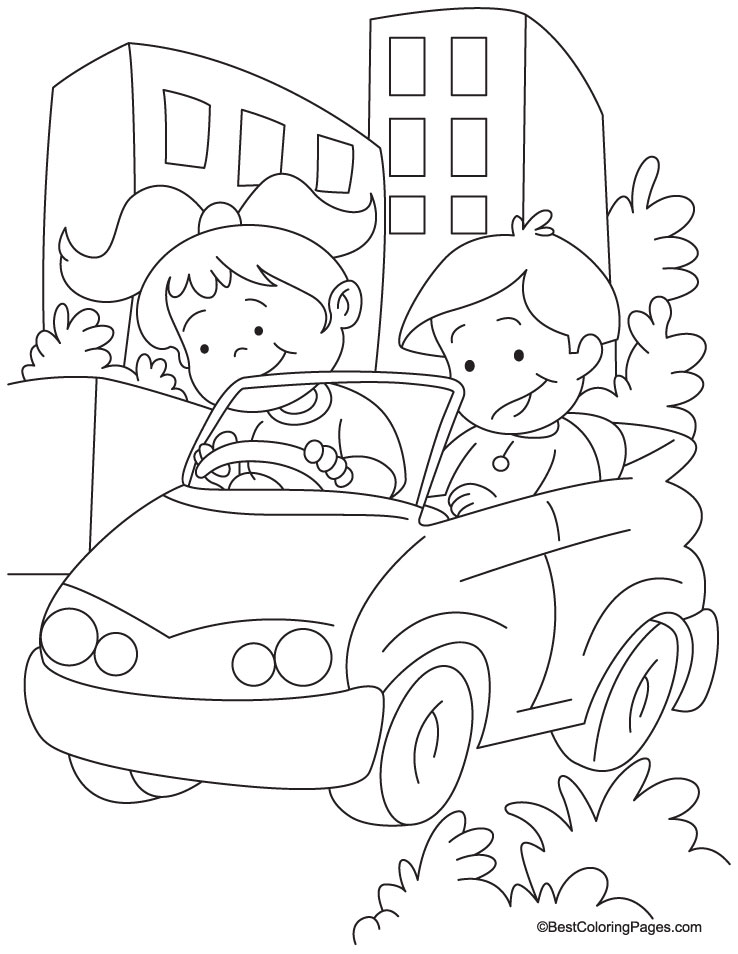 738x954 Drive Coloring Pages