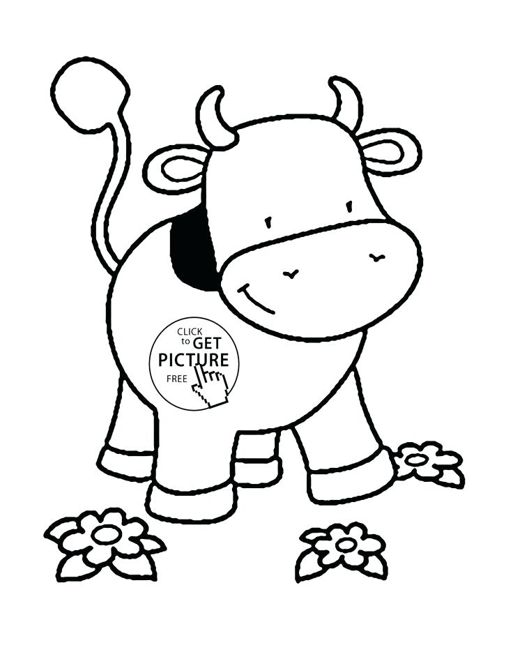 736x925 Cartoon Cute Cattle Cow Coloring Page Also Cartoon Cute Cattle