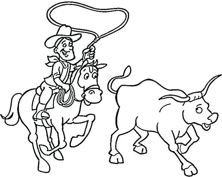 736x587 Images Of Cowboy Cattle Drive Coloring Pages Cowboy Coloring