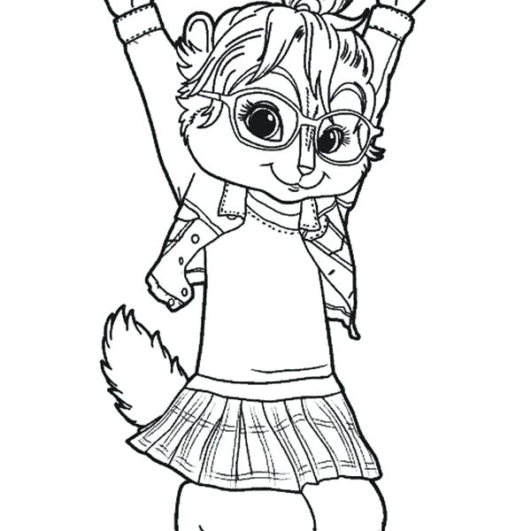 600x600 Chipettes Coloring Pages