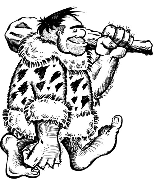 Cave Man Coloring Pages