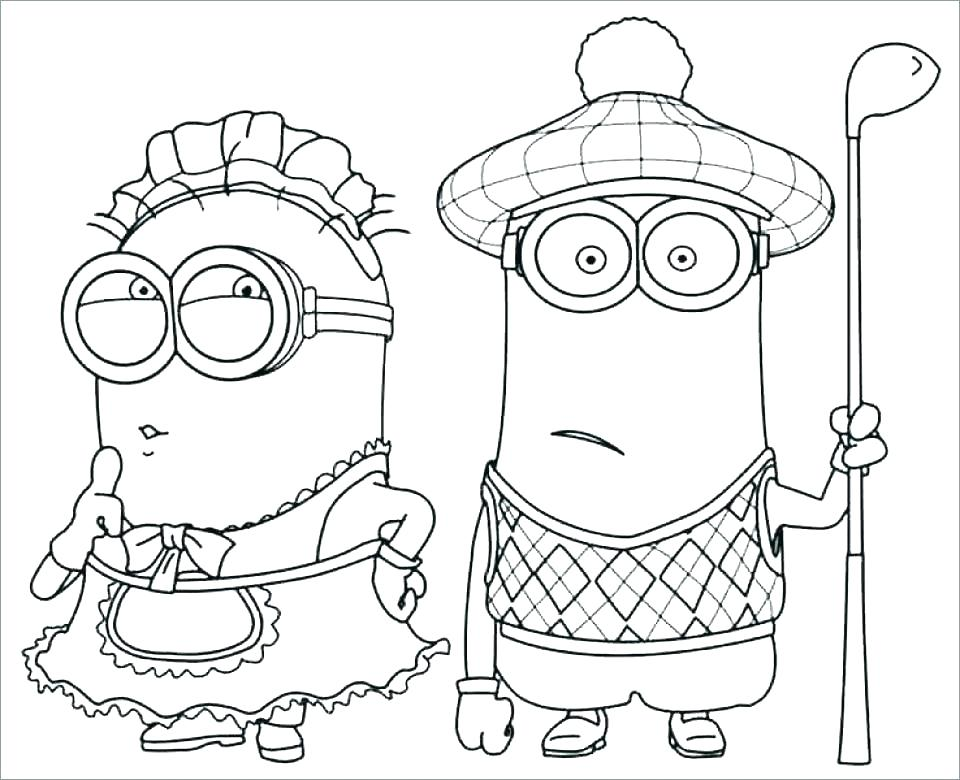 960x780 Despicable Me Minion Coloring Pages Minion Colouring Pages