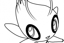 220x150 Lovely Pokemon Coloring Pages Celebi