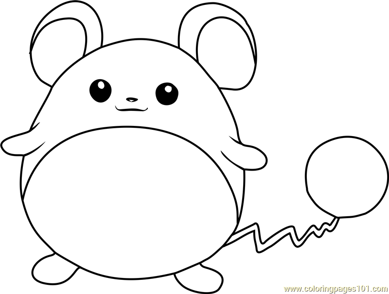 800x605 Marill Pokemon Coloring Page
