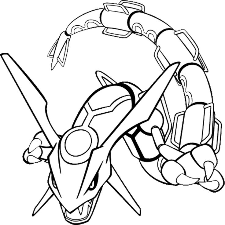 736x737 Rayquaza Legendary Pokemon Coloring Pages