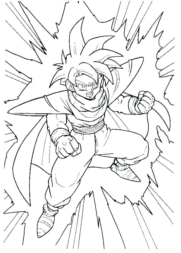 600x840 Dragon Ball Z Cell Coloring Pages