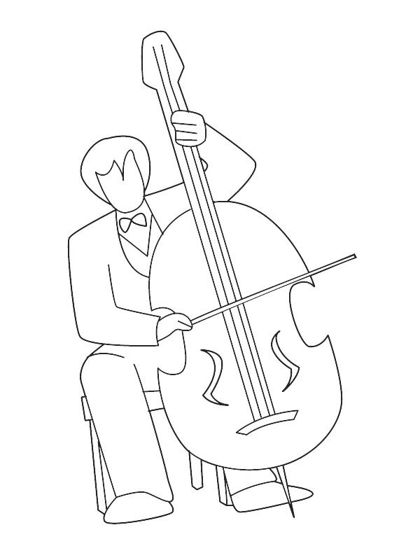 Cello Coloring Page