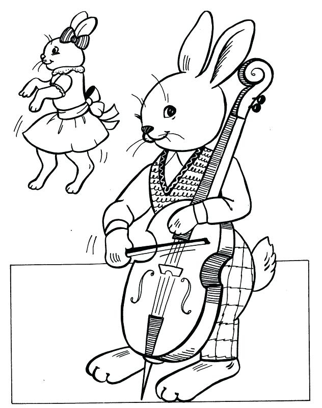 632x800 Cello Coloring Page Extraordinary Cello Coloring Page Bunny