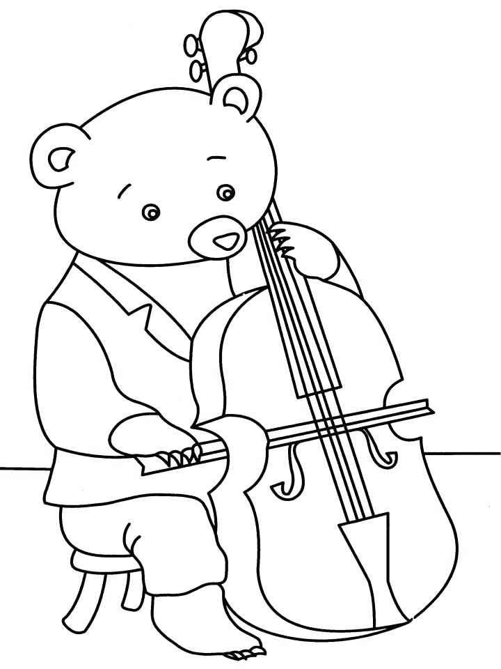 720x960 Cello Coloring Page Fascinating Cello Coloring Page Free Printable