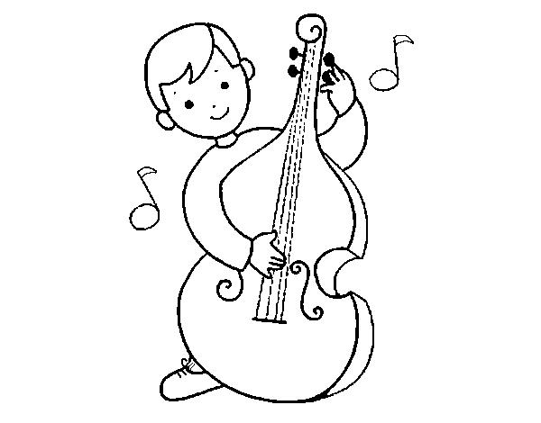 600x470 Cello Coloring Page New Little Boy With Cello Coloring Page