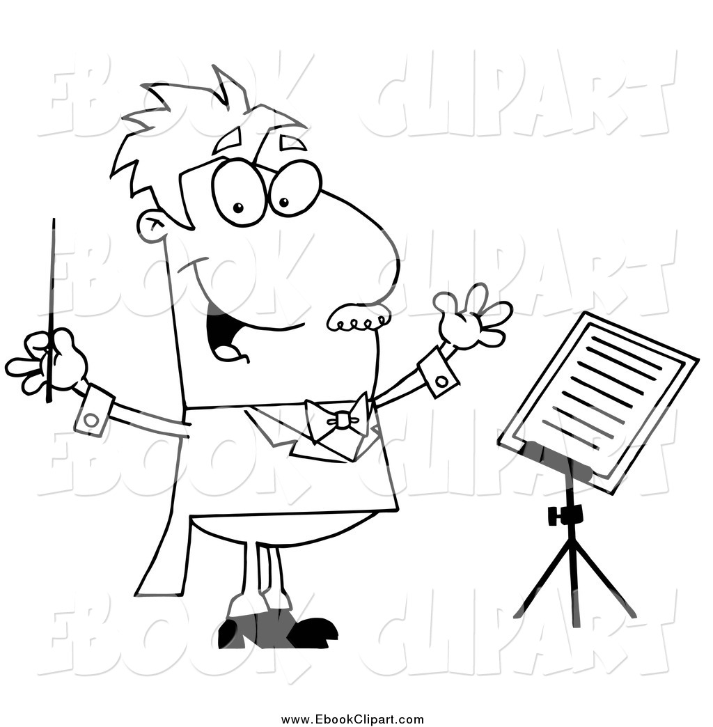 1024x1044 Coloring For Kids Dreaded Music Conductor Page Clipart Of Cartoon