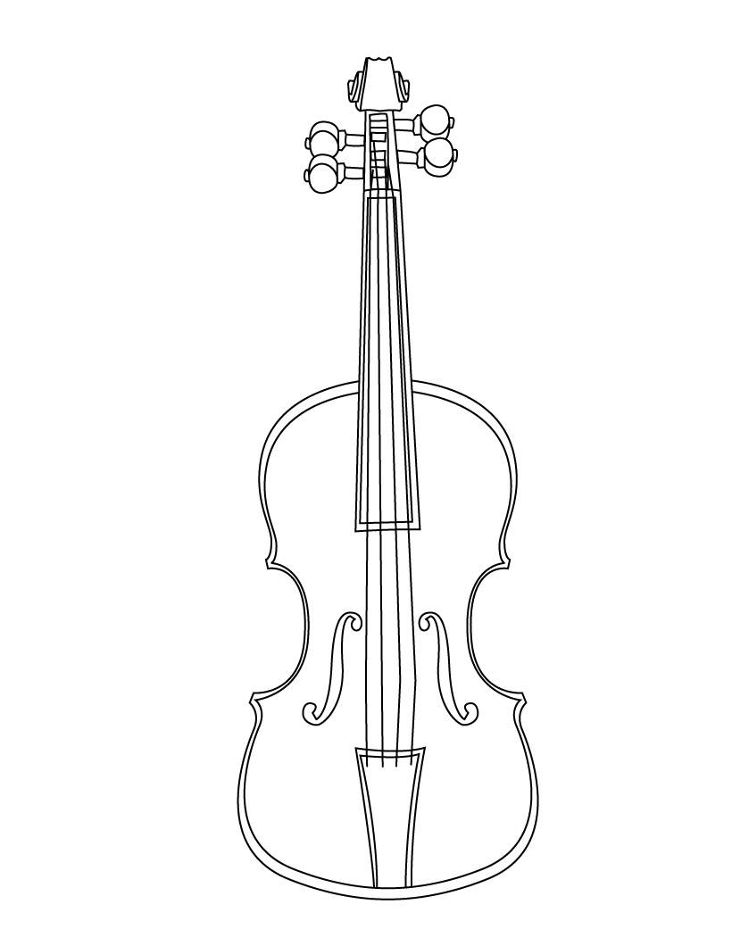 820x1060 Coloring Page Laser Cut Cello
