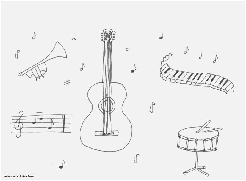 827x609 Top Rated Concept Musical Instruments Coloring Pages The Latest