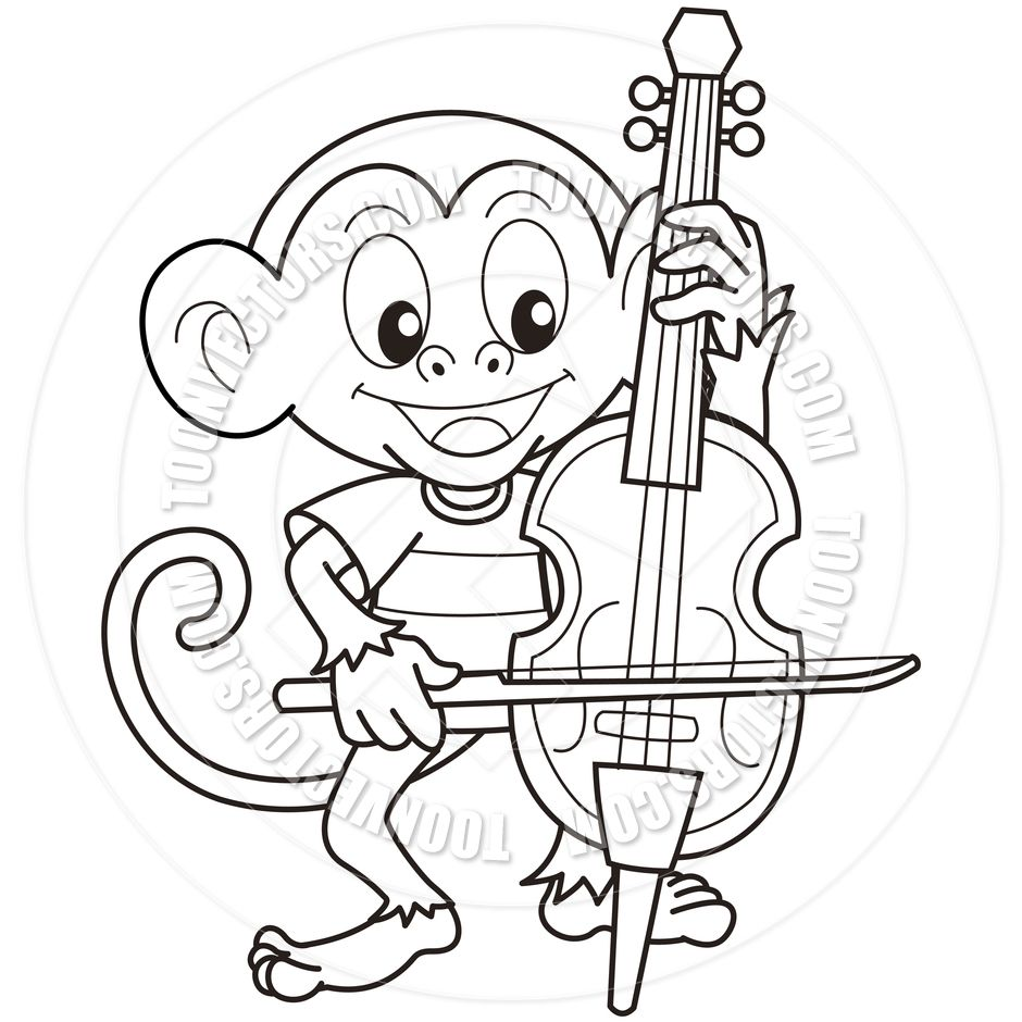 940x940 Astonishing Violin Coloring Page Music Education Pic Of Cello